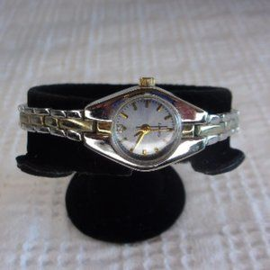 Silver Gold Two Tone Stainless Steel Wrist Watch